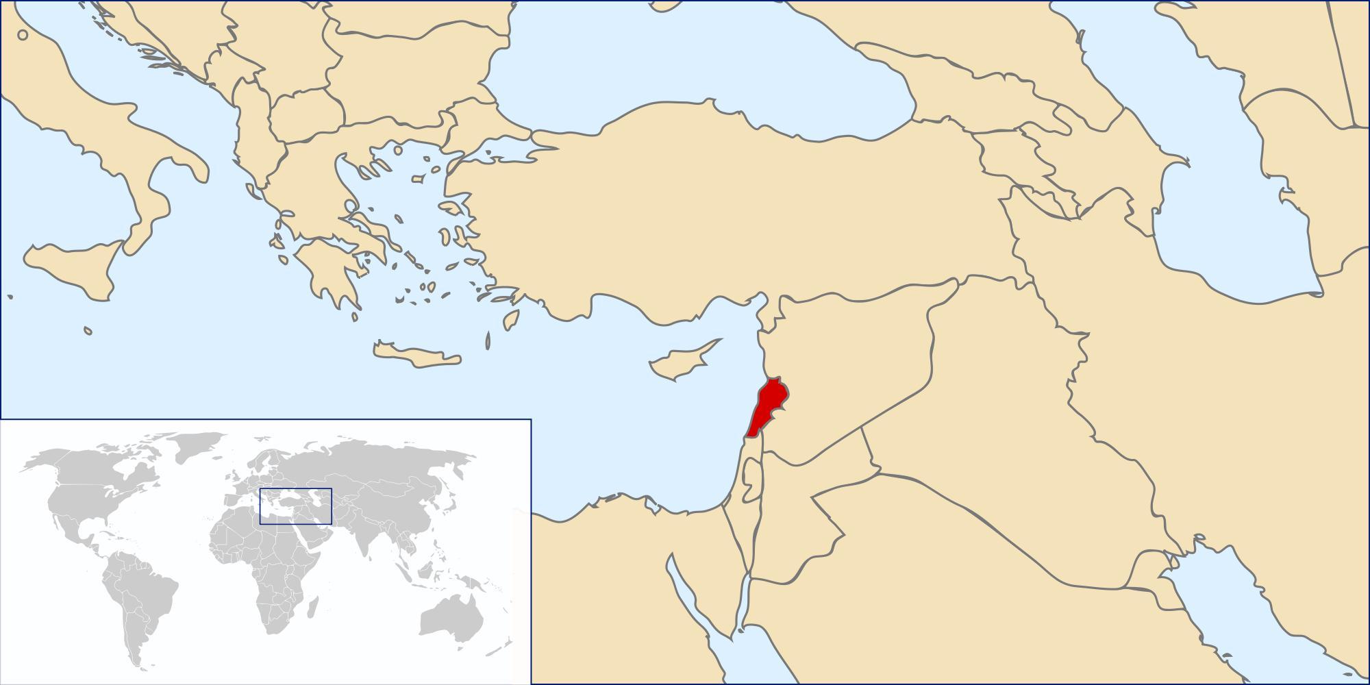 Cartina Del Libano.Libano Mappa Del Mondo Mappa Del Libano Mondo Asia Occidentale Asia