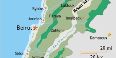 Cartina Politica Del Libano.Libano Mappa Dell Europa Cartina Di Libano Europa Occidentale Asia Asia