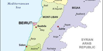 Cartina Politica Del Libano.Libano Politico Sulla Mappa Mappa Del Libano Politico Asia Occidentale Asia