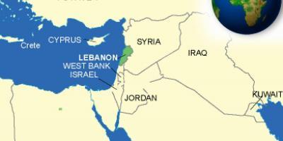 Cartina Politica Del Libano.Mappa Del Libano Libano Sulla Mappa Asia Occidentale Asia